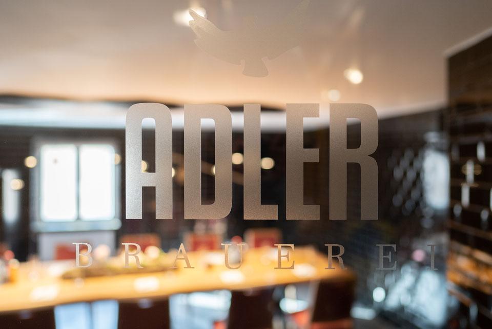 Adler Brauerei Gravur auf Glas | Hotel Adler | Paulas Alb